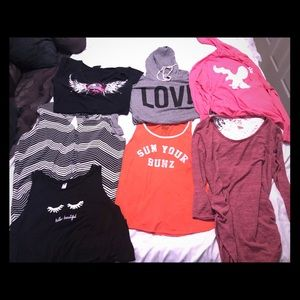 American Eagle Outfitters Tops - Lot of large ladies shirts